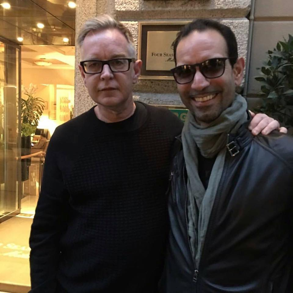 Andy Fletcher in Milan before Press Conference